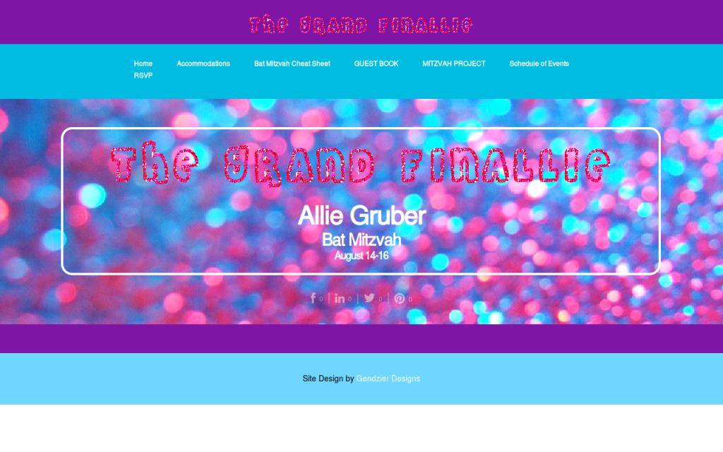 Event Website Design Bat Mitzvah